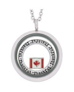 Thankful Canada Flag Locket
