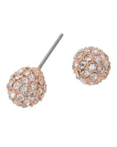 Rose Crystal Pave Studs