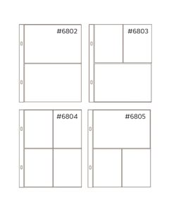 *50% OFF* Anthology 6 x 8 Mixed Pocket Protectors (20 pack – 4 styles) *SALE* WHILE SUPPLIES LAST