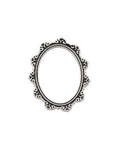 Antique Silver Oval Frame